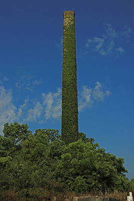 Photograph - Boiler Stack For The Catherine Sugar Mill by Ronald Olivier