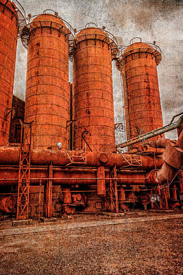 Photograph - boilers at Sloss by Phillip Burrow