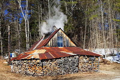 Photograph - Boiling Sap To Make Maple Syrup  by Betty  Pauwels