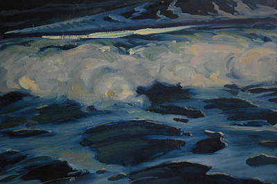 Painting - Boiling Surf by Len Stomski