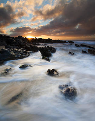 Boiling Tides Art Print by Mike  Dawson