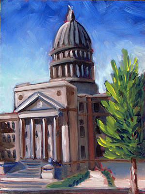 Capitol Building Painting - Boise Capitol Building 01 by Kevin Hughes