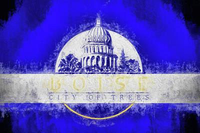 Digital Art - Boise City Flag by JC Findley