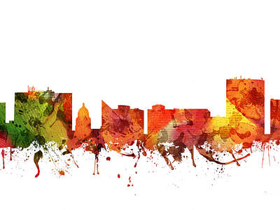 Rainbow Colors Digital Art - Boise Cityscape 04 by Aged Pixel