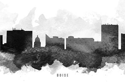Boise Cityscape 11 Art Print