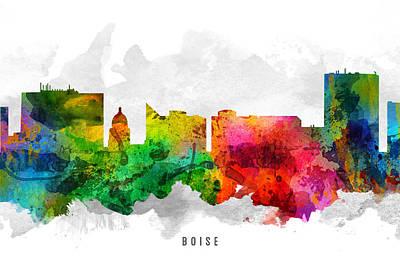 Boise Idaho Cityscape 12 Art Print