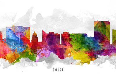 Boise Idaho Cityscape 13 Art Print