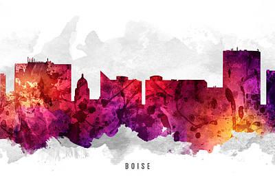 Boise Idaho Cityscape 14 Art Print