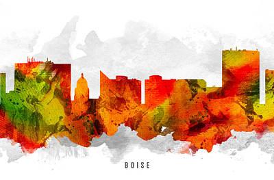 Boise Idaho Cityscape 15 Art Print