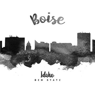 Boise Idaho Skyline 18 Art Print