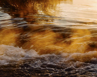 Photograph - Boise River Golden Morning In Boise Idaho Usa by Vishwanath Bhat