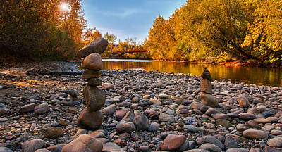 Photograph - Boise River In Autumn by Shanna Hyatt