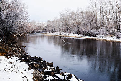 Photograph - Boise River In Winter With Fresh Snows On Trees by Vishwanath Bhat