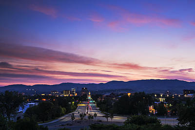 Photograph - Boise Skyline At Sunrise by Vishwanath Bhat