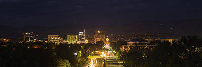 Photograph - Boise Skyline By The Night by Vishwanath Bhat