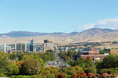 Photograph - Boise Skyline by Dart and Suze Humeston
