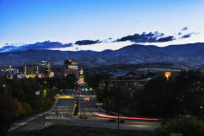 Photograph - Boise Skyline In Early Morning Hours by Vishwanath Bhat