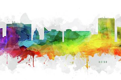 Boise Skyline Mmr-usidbo05 Art Print
