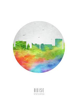 Boise Skyline Usidbo20 Art Print