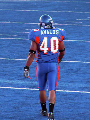 Photograph - Boise State Linebacker Andy Avalos by Lost River Photography