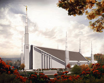 Lds Painting - Boise Temple #2 by Brent Borup