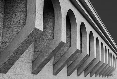 Photograph - Boise Temple Facade-black And White by Shanna Hyatt
