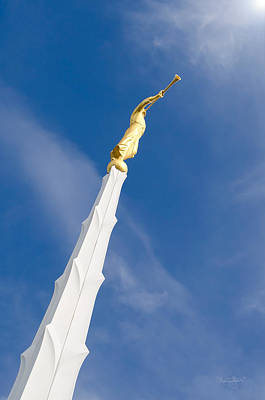 Photograph - Boise Temple Moroni by Shanna Hyatt