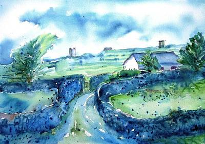 Painting -  Boithrin Inisheer by Trudi Doyle