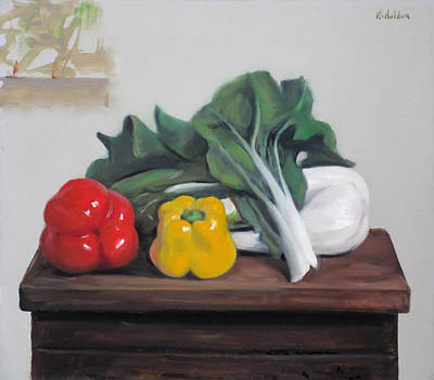 Painting - Bok Choy And Peppers by Robert Holden