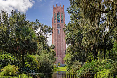 Photograph - Bok Singing Tower At Bok Tower Gardens  -  Boktower928 by Frank J Benz