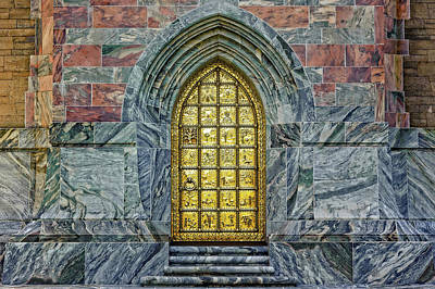 Photograph - Bok Tower Brass Entry Door-bok Tower Gardens  -  Bokbrdoor942 by Frank J Benz