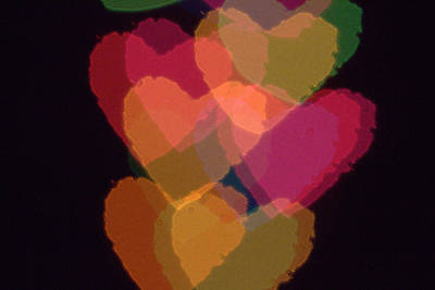 Photograph - Bokeh Hearts 1 by Liz Allyn