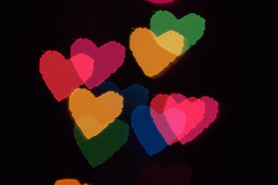 Photograph - Bokeh Hearts 3 by Liz Allyn