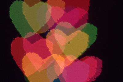 Photograph - Bokeh Hearts 4 by Liz Allyn