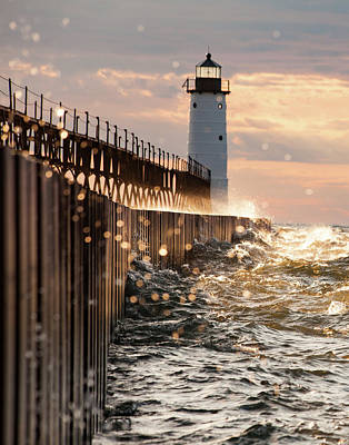 Photograph - Bokeh On Lake Michigan by Fran Riley