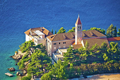 Bol Church And Monastery On Brac Coast Art Print