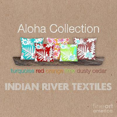 Digital Art - Bold Aloha Pillow Collection by Karen Dyson