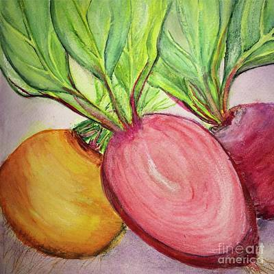 Art Print featuring the painting Bold Beets by Kim Nelson