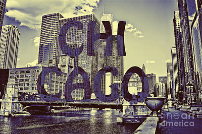 Bold Chicago Art Print by Emily Kay