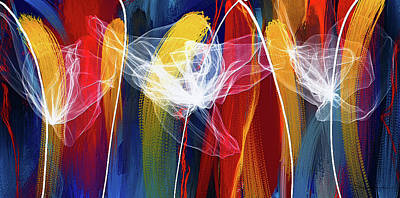 Painting - Bold Colors Modern Abstract Art by Lourry Legarde