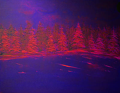 Nature Painting - Bold Evergreens by Ken Figurski