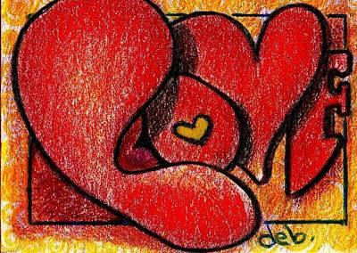 Painting - Bold Love by Deborah jordan Sackett