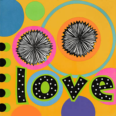 Art Print featuring the mixed media Bold Love by Gloria Rothrock