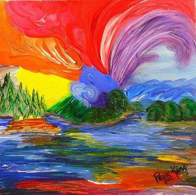 Bold New Day - Or A Trip Around My Palette Art Print