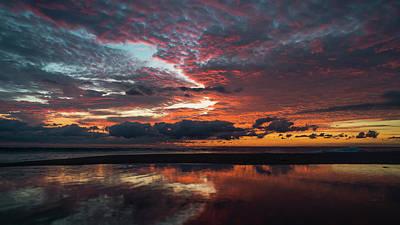 Bold Sunrise Delray Beach Florida Art Print