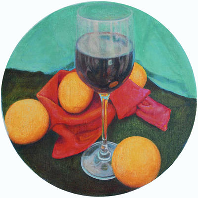 Italian Wine Painting - Bold Zinfandel Wine by Mark Manning
