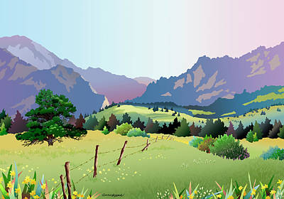 Digital Art - Bolder Boulder Poster 2009 by Anne Gifford
