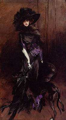 Boldini Giovanni Portrait Of The Marchesa Luisa Casati With A Greyhound Art Print