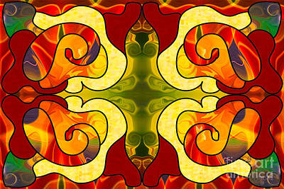 Boldly Experiencing Consciousness Abstract Art By Omashte Art Print by Omaste Witkowski