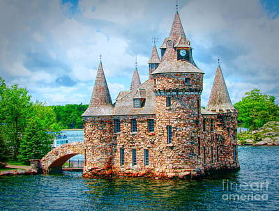 Photograph - Boldt Castle Power House Abstract Effect by Rose Santuci-Sofranko
